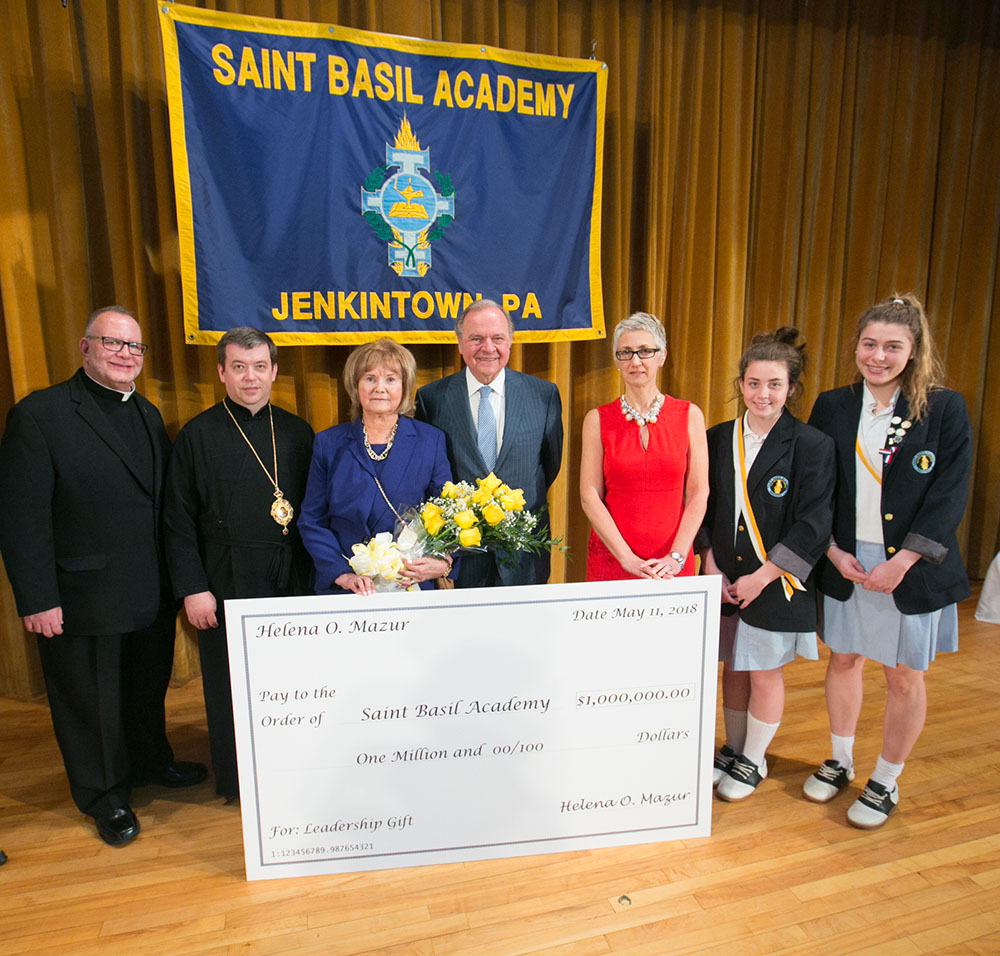Saint Basil Academy Receives $1 Million  Leadership Gift